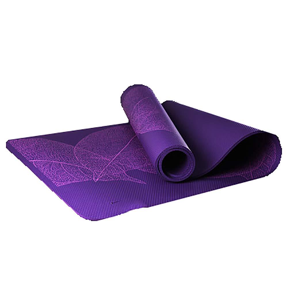 LHFFCt Gymnastikmatten Rutschfest Groß, ÜBungsmatten, Yogamatte TPE Umweltfreundlich, Pilates, Hypoallergen Meditationsmatte