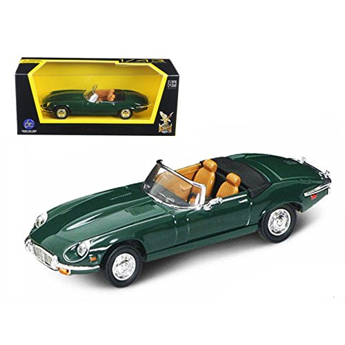 Road Signature 1971 Jaguar E Type Convertible Yellow 1/43 Diecast Model Car