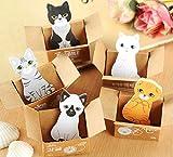 Cat Office Supplies Best Deals - Yosoo Cartoon Cats Sticky Notes, Pack of 5
