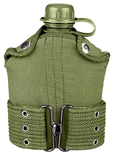 Rothco G.I. Type Plastic Canteen & Pistol Belt (Type Canteen Covers)