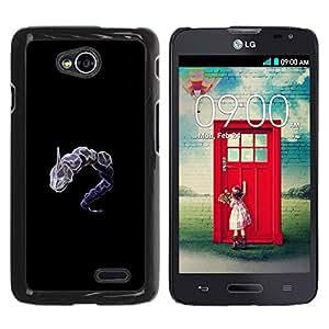 CASER CASES / LG Optimus L70 / LS620 / D325 / MS323 / Dragonair P0Kemon / Delgado Negro Plástico caso cubierta Shell Armor Funda Case Cover