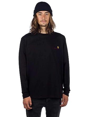 b3c39f1330922 Longsleeve Men Carhartt WIP American Script T-Shirt LS  Amazon.co.uk   Clothing