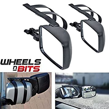 Wheels N Bits 2 x Caravan Towing Mirror Extension Car Wing Mirrors for Fiat 500 500L 500C