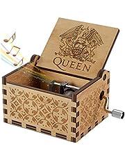Evelure Caja de música de Madera de Queen, Cajas de música de Madera talladas a Mano y creativos tallados a Mano Los Mejores Regalos (QA-Wood)