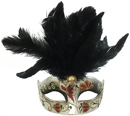 Black Mini Jordana Mask Mardi Gras Christmas Tree Ornament Decoration