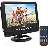 9 Inch Portable Widescreen TV - Smart Rechargeable Battery Wireless Car Digital Video Tuner, 800x480p TFT LCD Monitor Screen w/Dual Stereo Speakers, USB, Antenna, Remote, RCA Cable - Pyle PLTV9553