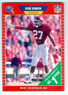 Steve Atwater Football Card (Denver Broncos University of Arkansas) 1989 Pro Set #492 Rookie