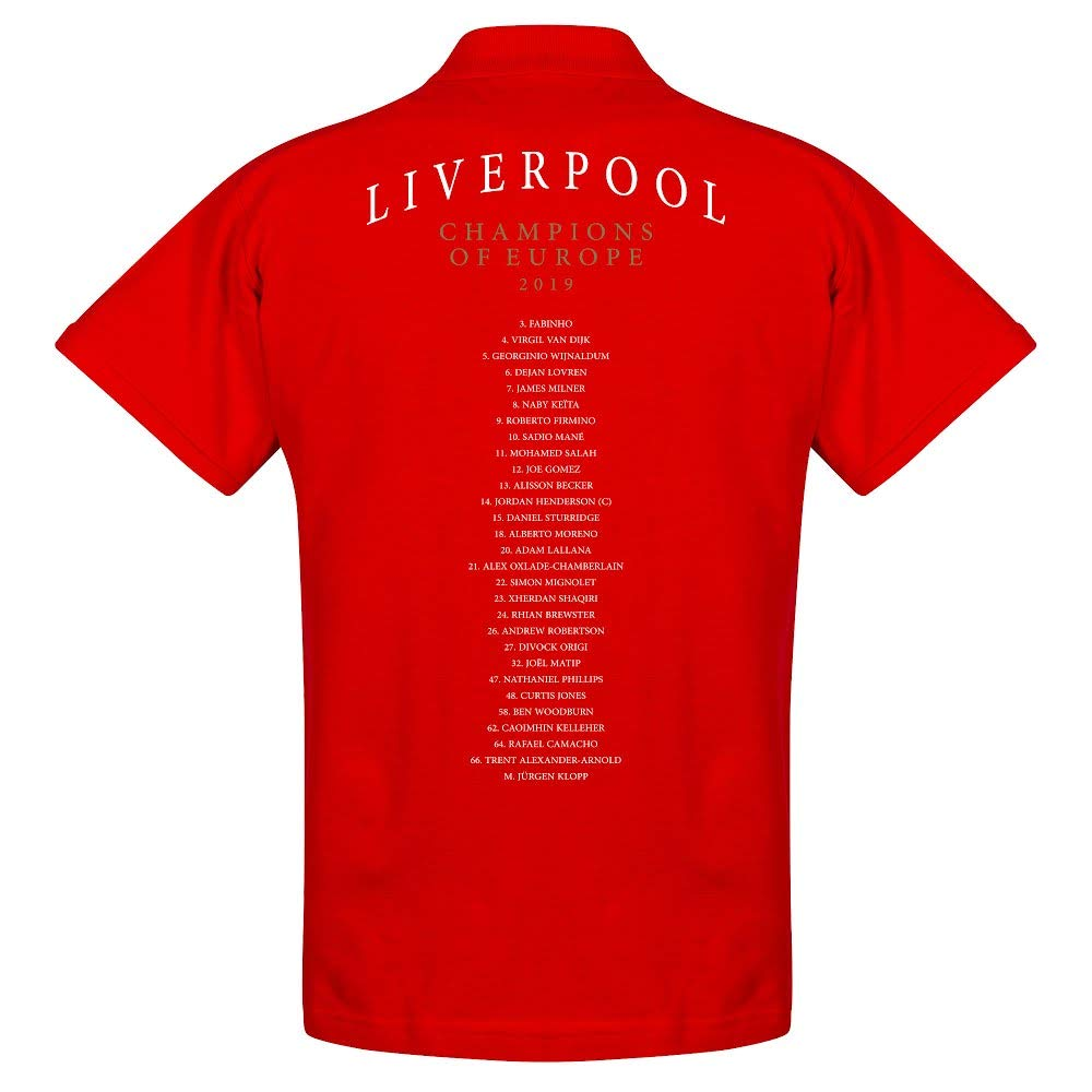 rot XXXL Liverpool Wappen Europameister Mannschaft Polo Shirt