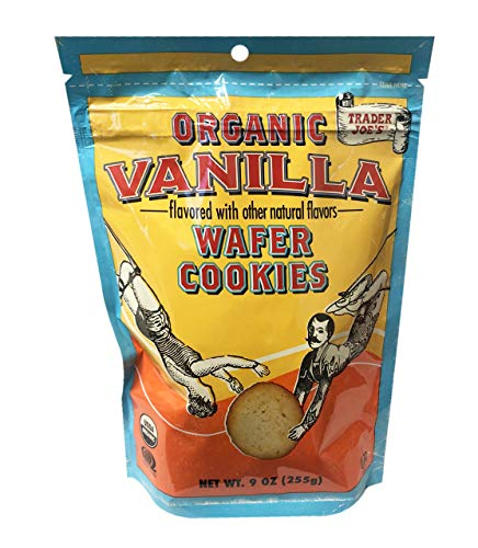 (Trader Joe's Organic Vanilla Wafer Cookie Resealable Bag 9oz,1 Pack)