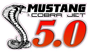 Amazon Com Mustang Cobra Jet 5 0 Decal 5 In The United States