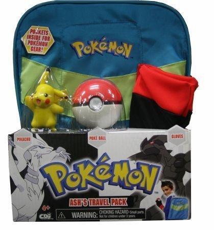Pokemon Black & White Ash's Travel Pack Costume Gift Set Backpack ()