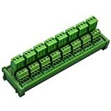 Electronics-Salon DIN Rail Mount Pluggable 8x3 Position 10A/300V Screw Terminal Block Distribution Module. (Side Wire Connects)