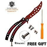 Anlado Cs Go Butterfly Knife Trainer - Red Color - no Offensive Blade - Durable