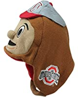 NCAA Ohio State Buckeyes Toddler Mascot Knit Hat - Brown