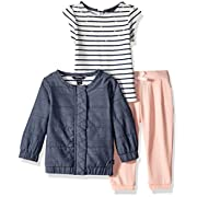 Nautica Baby Jacket, Tee, and Legging Set, Chambray, 6 Months