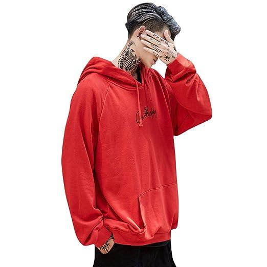 JiaMeng Hombre Chaqueta Invierno Abrigo Color Sólido Sudadera con Capucha con Estampado de Cara Sonriente de Unisex de Moda para Hombre Sudadera con ...