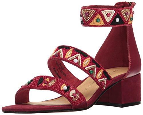 Chinese Laundry Kvinna Mandala Klänning Sandal Rött Läder