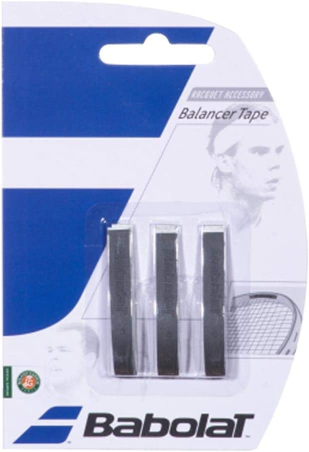 Babolat Balancer Tape 3 X 3 Accesorio Raqueta de Tenis, Negro, Talla Única