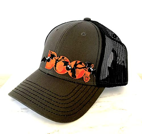 Shop DAYLE Gray Black Trucker Hat with Halloween Boo Bling ()