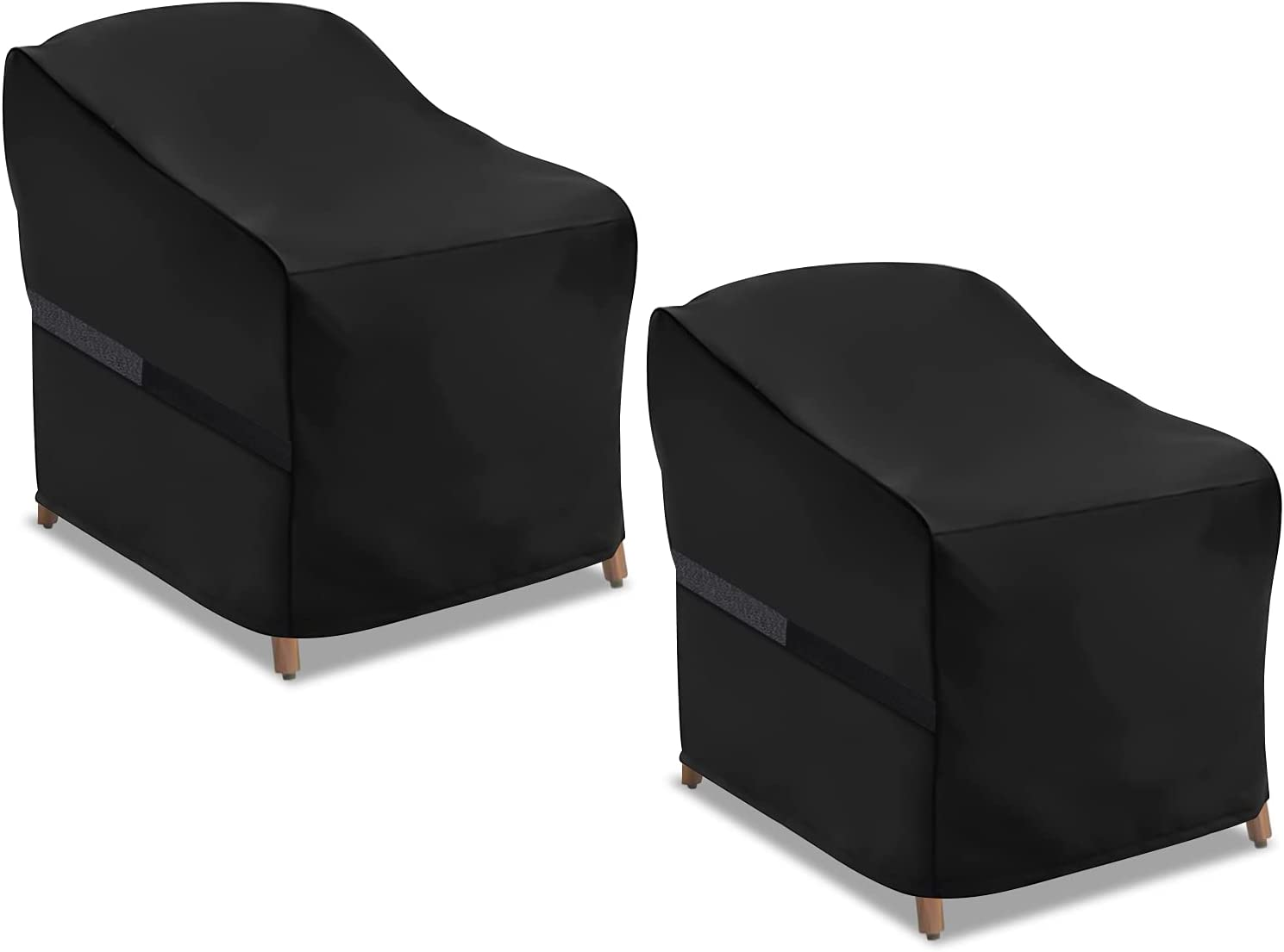 NASUM Patio Seat Covers, 2 Pack Patio Chair Coves, Waterproof and Heavy Duty Lounge Deep Outdoor Seat Covers, Outdoor Lawn Patio Furniture Covers,32''Lx37''Dx36''H