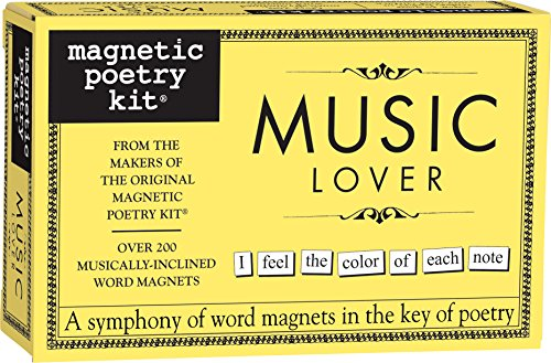 Magnetic Poetry - Music Lover Kit - Words for Refrigerator - Write Poems and Letters on The Fridge - Made in The ()
