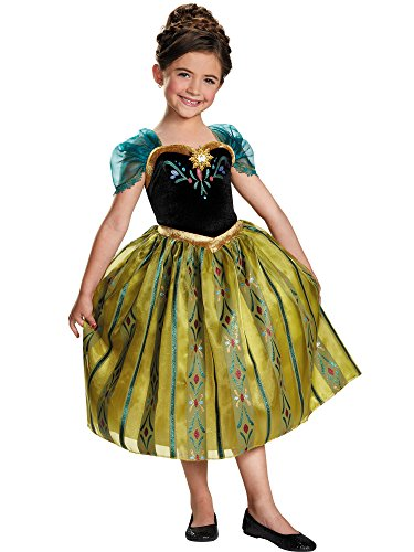 Disney's Frozen Anna Coronation Gown Deluxe Girls Costume, -