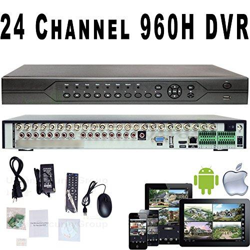 Urban Security Group HD BNC 24 Channel DVR : AHD, Analog + IP : Up to IP 2MP 1080P : 24Ch @ 960H : 24Ch @ 1080H or 960P @ 15FPS : 2X SATA, HDMI+VGA, Audio, Alarm, PTZ, Motion Detection : Phone App