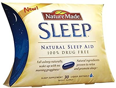 Nature Made Liquid Softgel Sleep Natural Sleep Aid