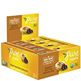 Cheap Pure Organic Peanut Butter Chocolate, Ancient Grain and Nut Crispy Bar, Gluten-Free, Certified Organic, Non-GMO, Vegan, Kosher, Plant Based Whole Food Nutrition Bar, 1.23 ounce (Pack of 12)
