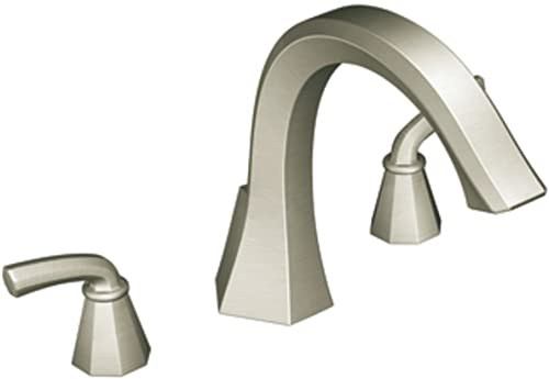 Moen TS243BN Felicity Two-Handle High Arc Roman Tub Faucet, Brushed Nickel