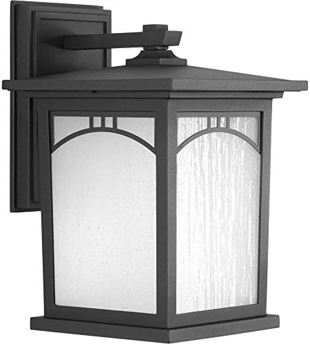Progress Lighting Residence Collection 1-Light Outdoor 8 Inch Textured Black LED Wall Lantern