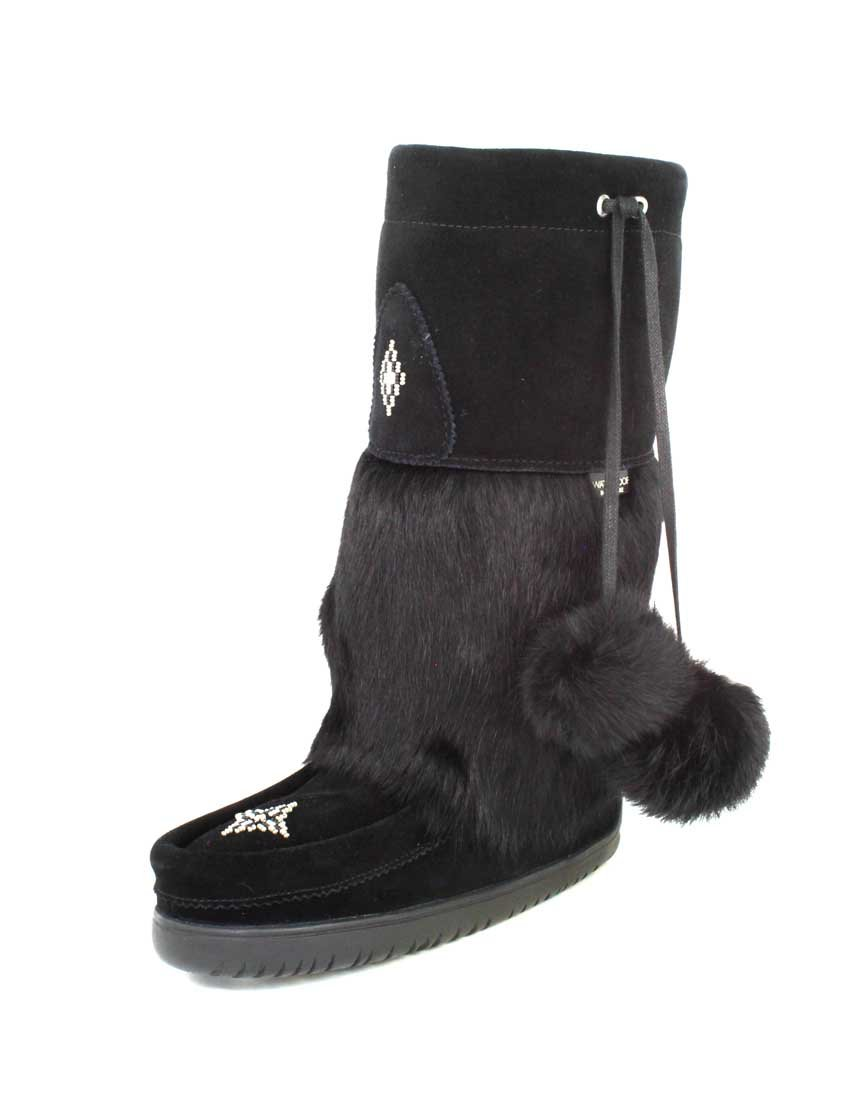 Manitobah Mukluks Snowy Owl Boot in Grey B0777DP5YV 5 B(M) US|Black