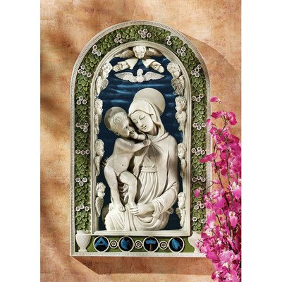 Design Toscano Madonna and Child Bas-Relief Wall Sculpture -