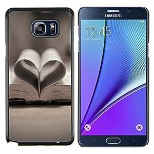 Caucho caso de Shell duro de la cubierta de accesorios de protección BY RAYDREAMMM - Samsung Galaxy Note 5 5th N9200 - Amor libro Amor