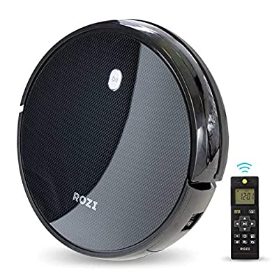 Rozi Tidybot Robot Vacuum Cleaner, 1600Pa Strong Suction, Smart Infrared Sensor, Quick Auto Charge, 4 Cleaning Modes, Route Planing on Hard Floor, Carpet and All Floor Types