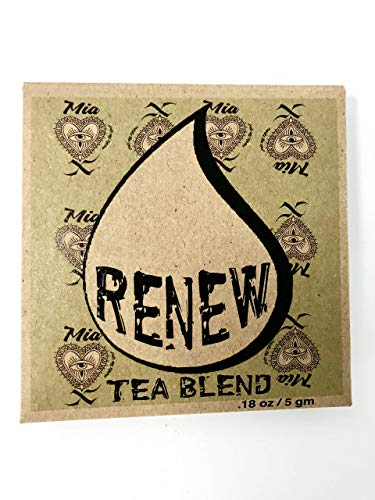 (Renew Release & Restore Intention Tea - Reiki Infused and Blessed Herbal Tea in Re-usable Muslin Tea Bag w/ Loose Leaf Rose Petals Gotu Kola Lemon Peel Peppermint Sage, Makes 32 oz. Great Gift)