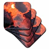 3dRose Danita Delimont - Geothermal - Steam billows form Old Faithful Geyser, Yellowstone, Wyoming, USA. - set of 8 Coasters - Soft (cst_260663_2)