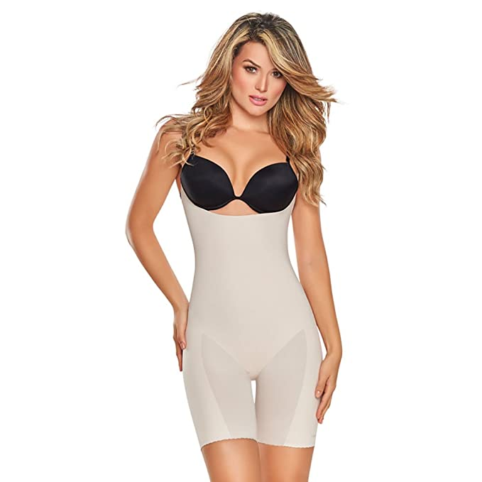 4e757cd7a3 Fajas Colombianas TrueShapers Invisible Open Bust Seamless Body Shaper   Amazon.ca  Clothing   Accessories