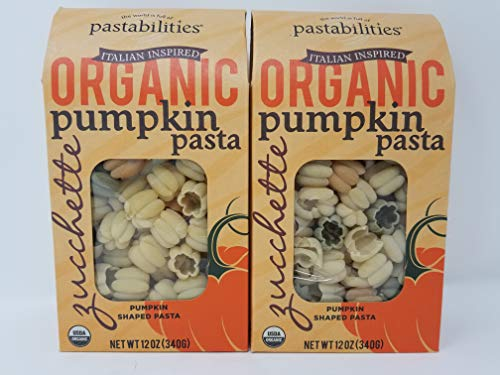 Organic Pumpkin Shaped Pasta by Pastabilities 2 x 12oz Boxes]()