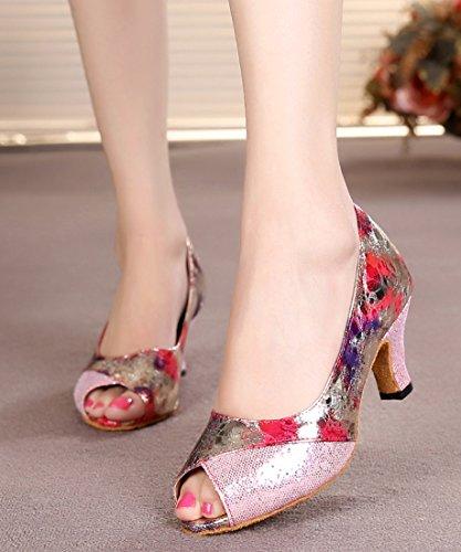 TDA - Zapatos con tacón mujer Rosa