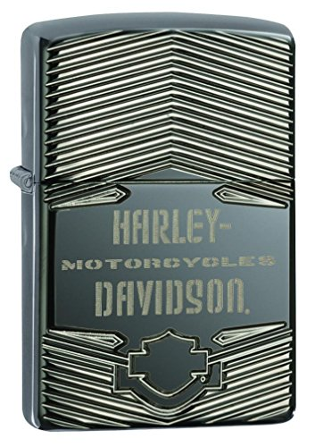 Personalized Zippo Armor Harley Davidson Black Ice Lighter with Logo 29165 Free Engraving