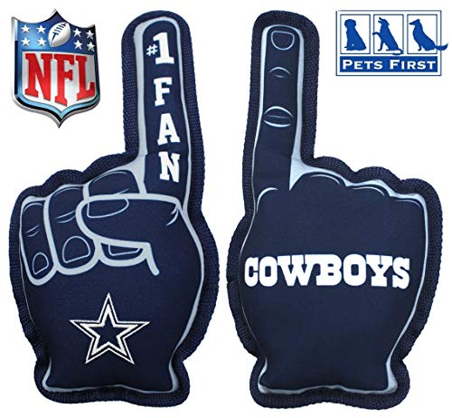 Pets First NFL Dallas Cowboys #1 Fan Toy for Dogs & Cats. Best Tough PET Toy with Inner Squeaker, Team Color, one Size (DAL-3277)