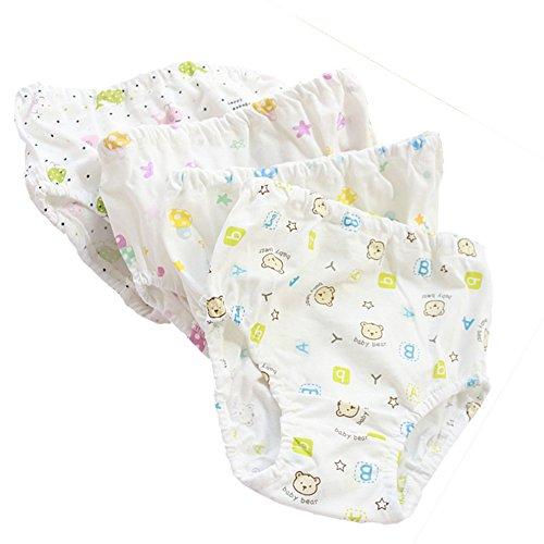 Baby Rib Brief (Benetia Baby Underwear Girls Soft Cotton 4-Pack White 12Months 2t)
