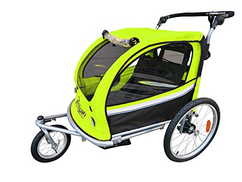 Booyah Strollers Child Baby Bike Bicycle Trailer and Stroller II (Green) by Booyah Strollers