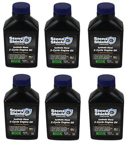 Stens 50:1 - 2-Cycle Oil Mix Synthetic Blend 6.4 oz Pack of 6