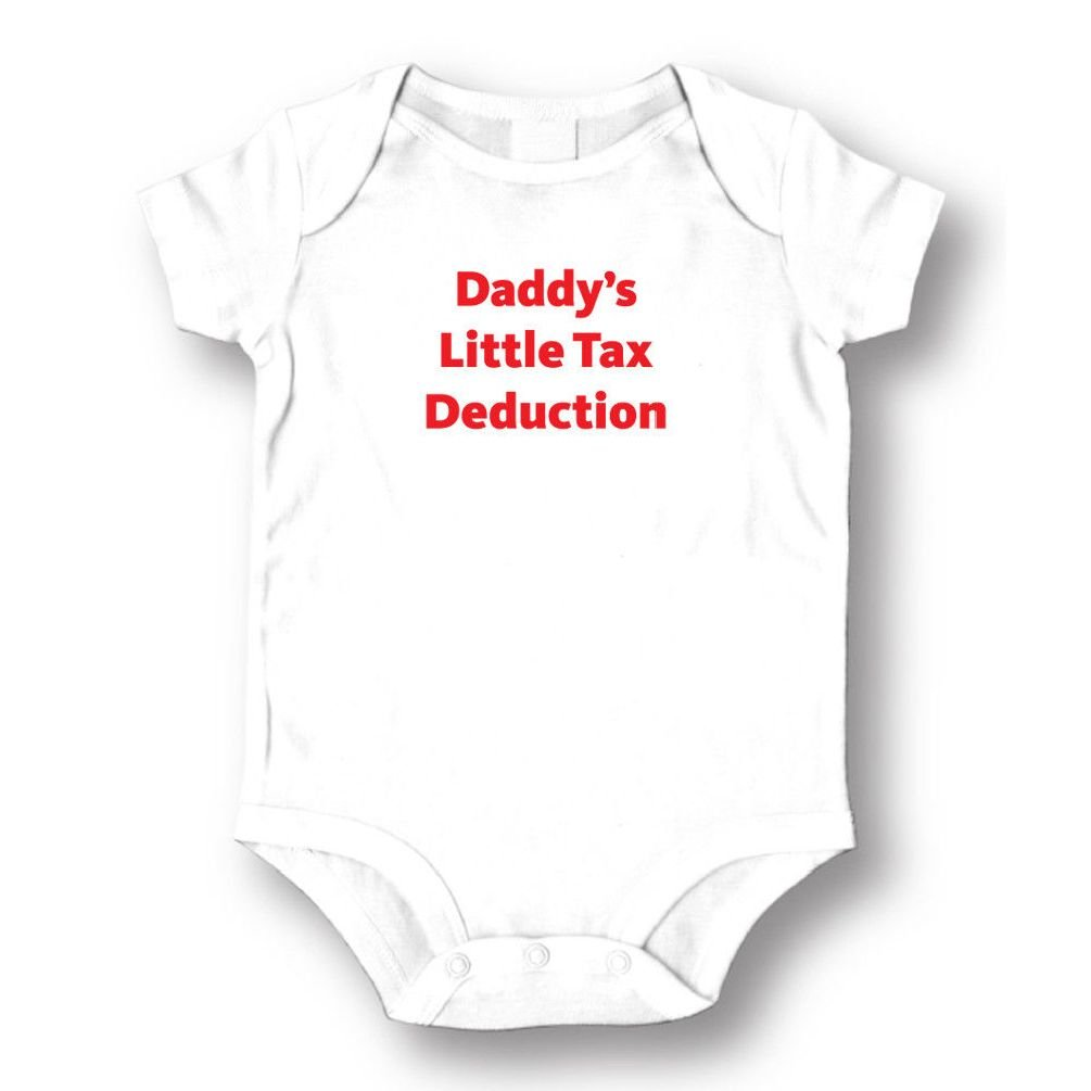 Dustin clothing series Daddy's Little Tax Deduction Baby Boys Girls Toddlers Funny Romper 0-24M