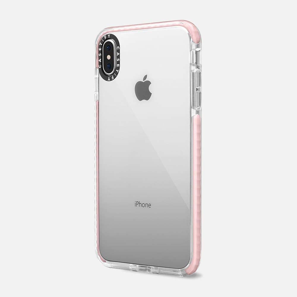 the best attitude de18a f1fdb Casetify Clear Impact iPhone Xs Max with Slim Cover with Slim Thin Drop  Proof Military Grade Protection and Transparent Dual-Layered Shockproof  Pink ...