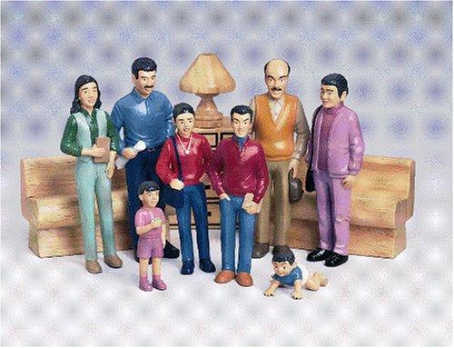 Marvel Education 136 Pretend Play Hispanic Family Set of 8 Figures - Family Doll Set