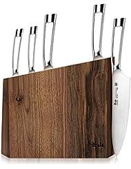 Cangshan N1 Series 61017 6-Piece German Steel Forged Knife Block Set, Walnut Block