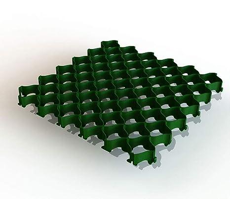 500 x 500 x 36 mm mit Clipsystem ohne Bodenanker Bodengitter Rasengitter ab 8 St/ück Kunststoff 40, schwarz
